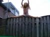 Op de trampoline
